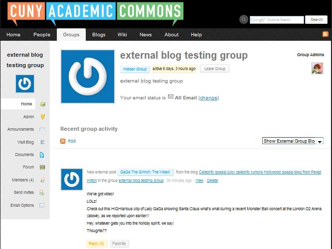 external blog posts